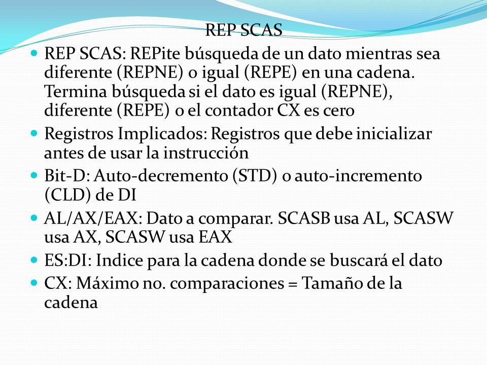 REP SCAS