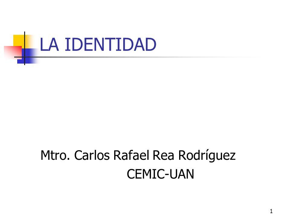LA IDENTIDAD Mtro. Carlos Rafael Rea Rodríguez CEMIC-UAN