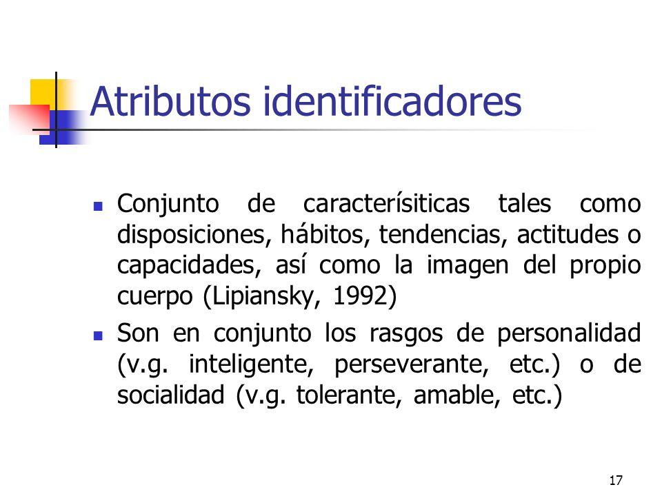 Atributos identificadores