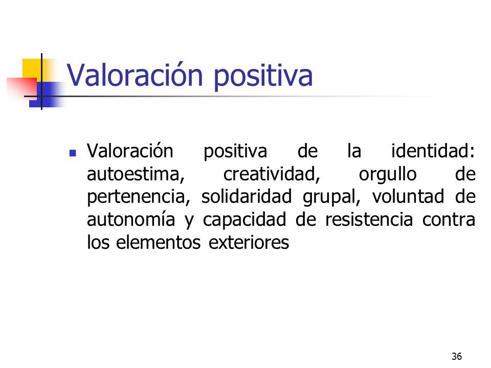 Valoración positiva