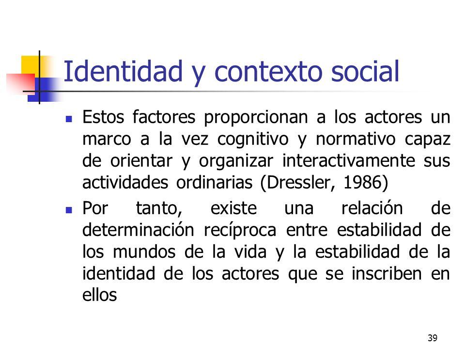 Identidad y contexto social