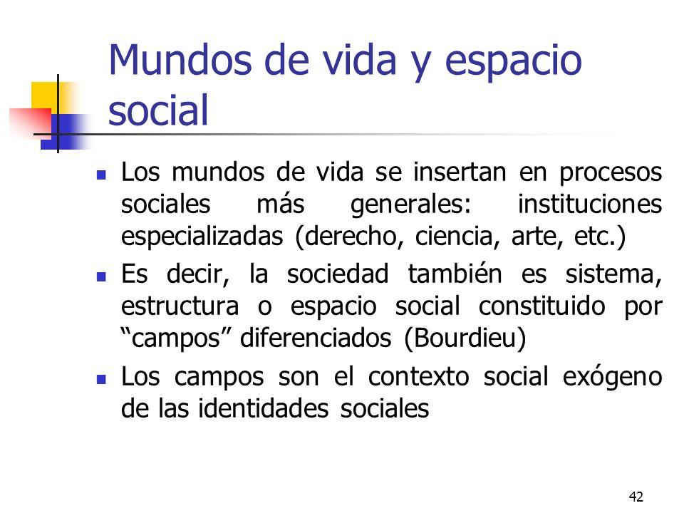 Mundos de vida y espacio social
