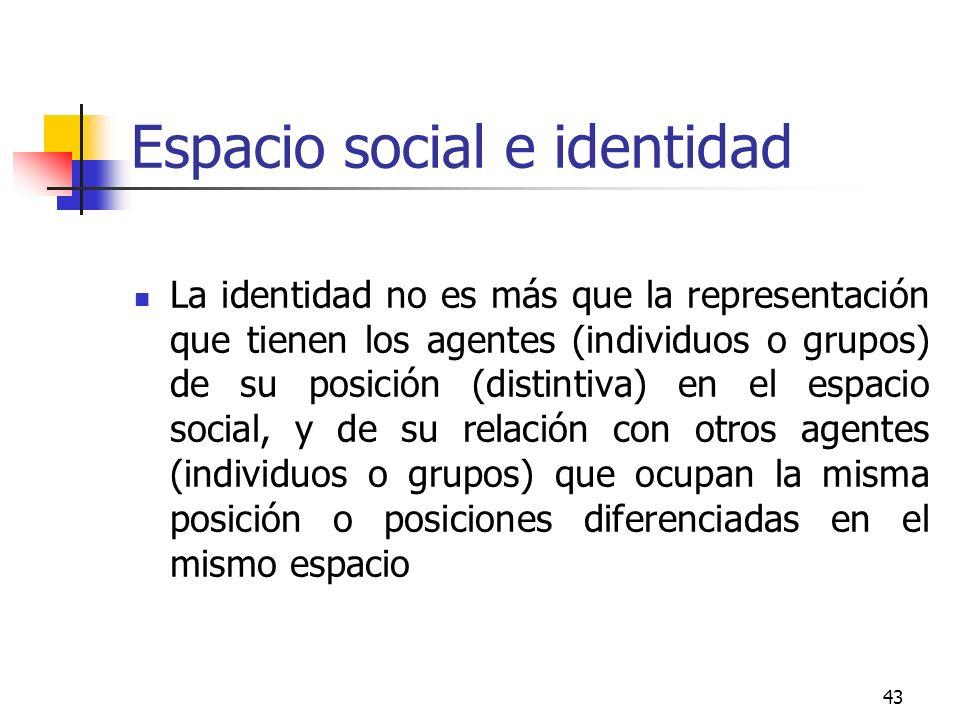 Espacio social e identidad
