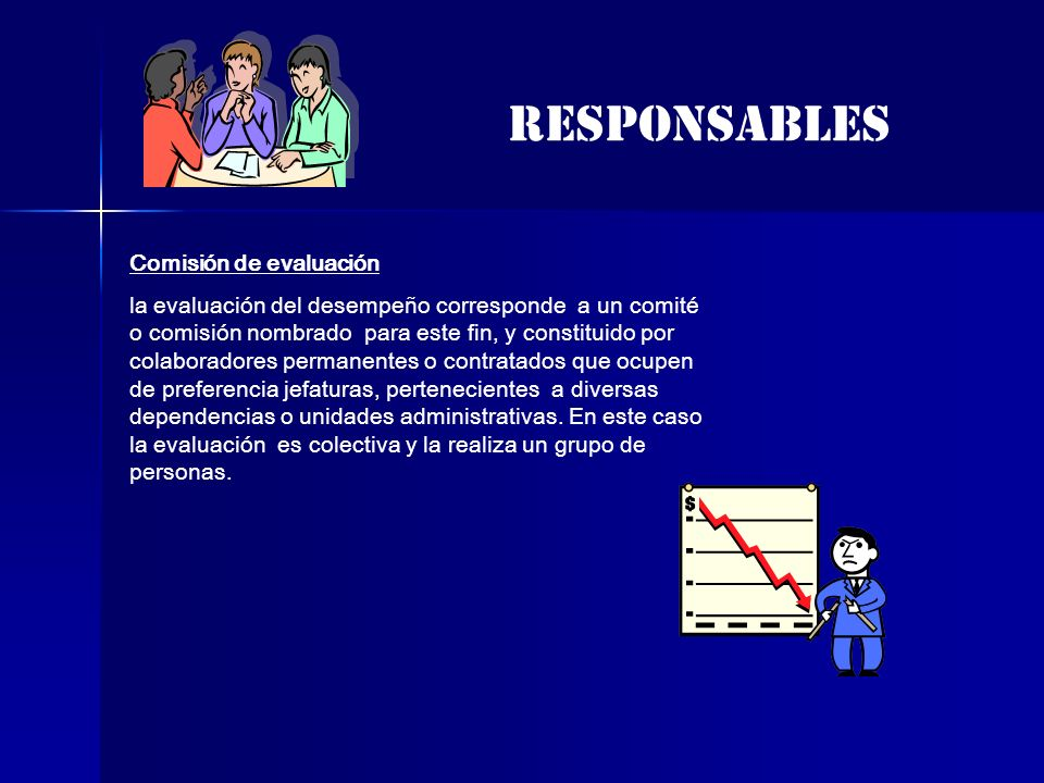responsables Comisión de evaluación