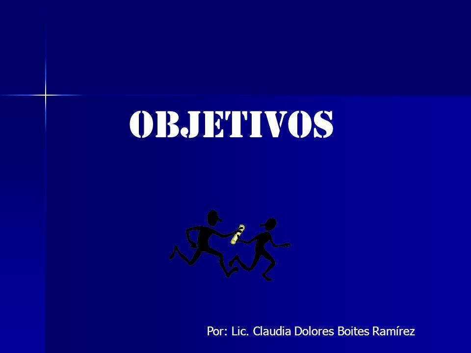 OBJETIVOS Por: Lic. Claudia Dolores Boites Ramírez