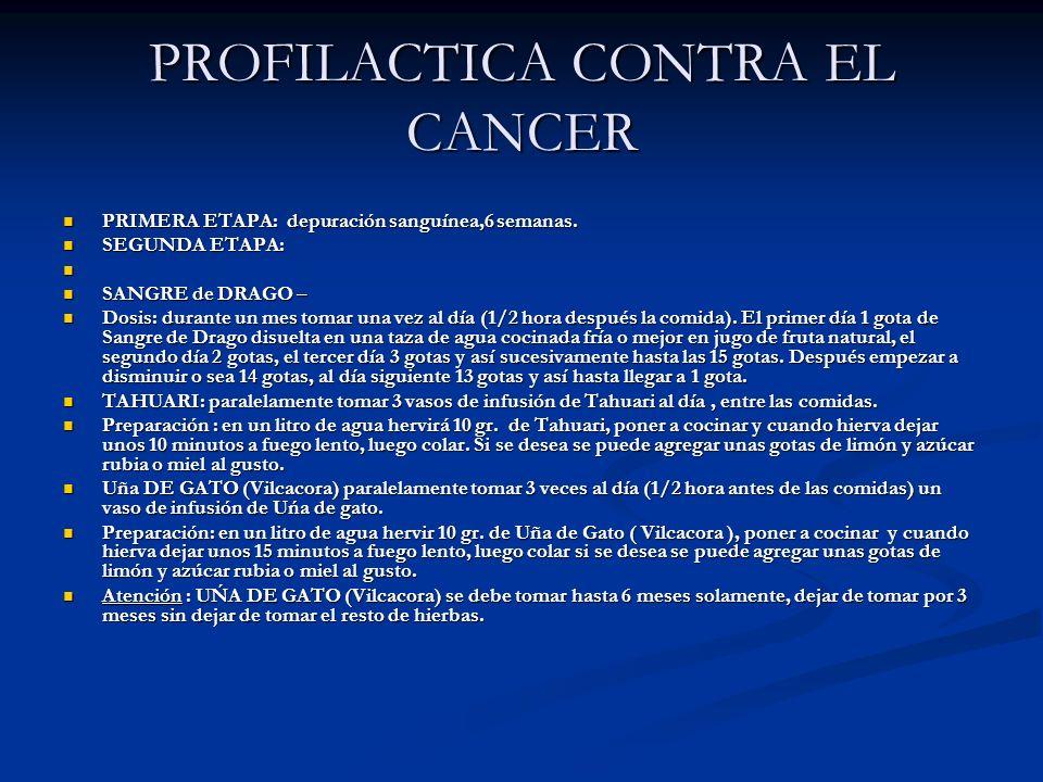PROFILACTICA CONTRA EL CANCER