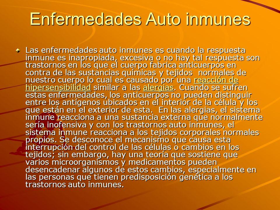 Enfermedades Auto inmunes