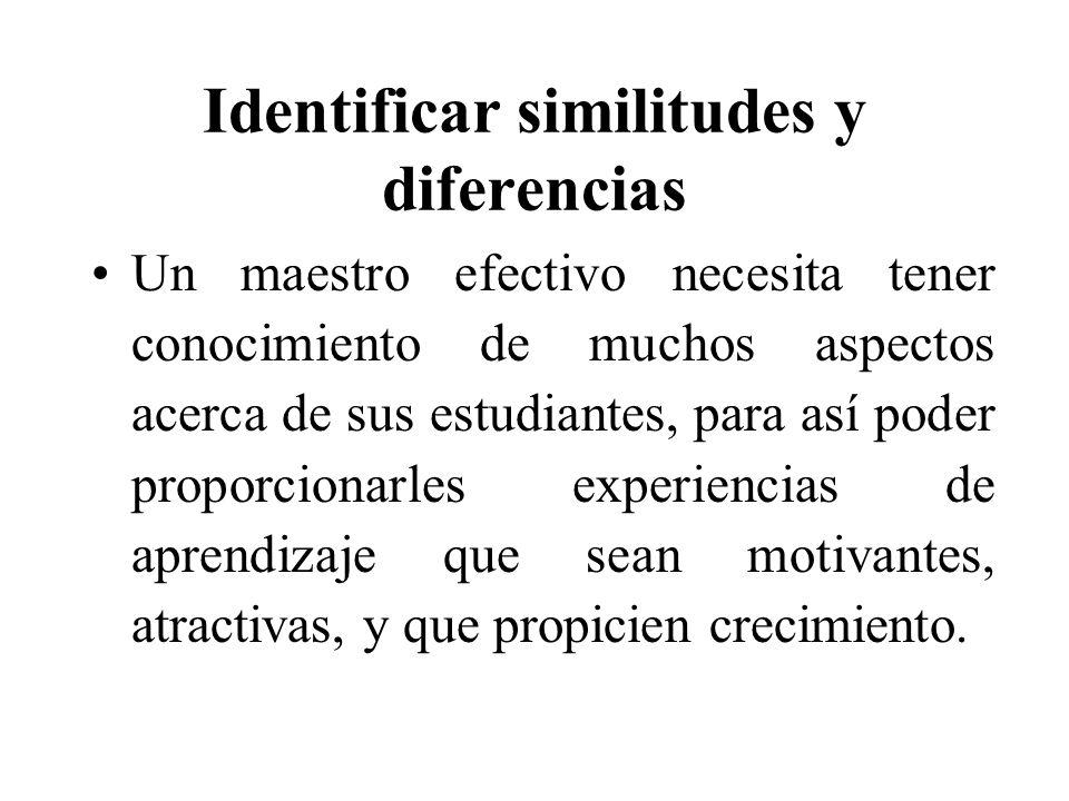Identificar similitudes y diferencias