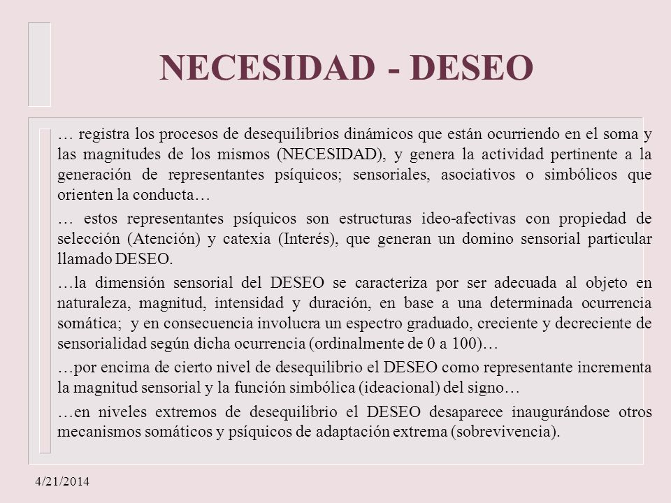 NECESIDAD - DESEO
