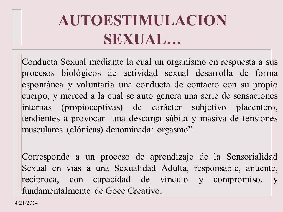 AUTOESTIMULACION SEXUAL…