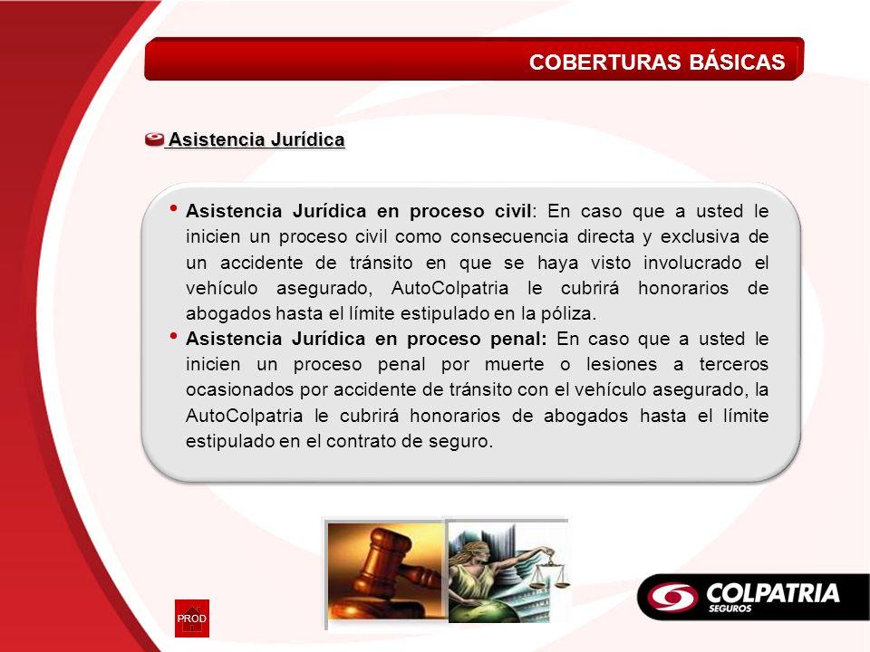 COBERTURAS BÁSICAS Asistencia Jurídica