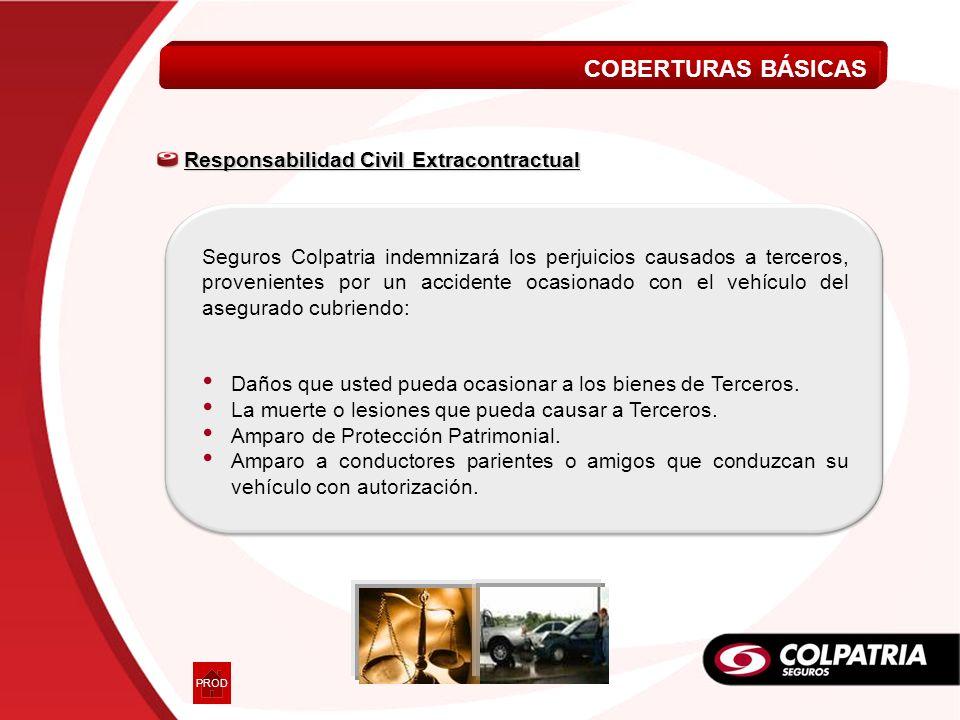 COBERTURAS BÁSICAS Responsabilidad Civil Extracontractual