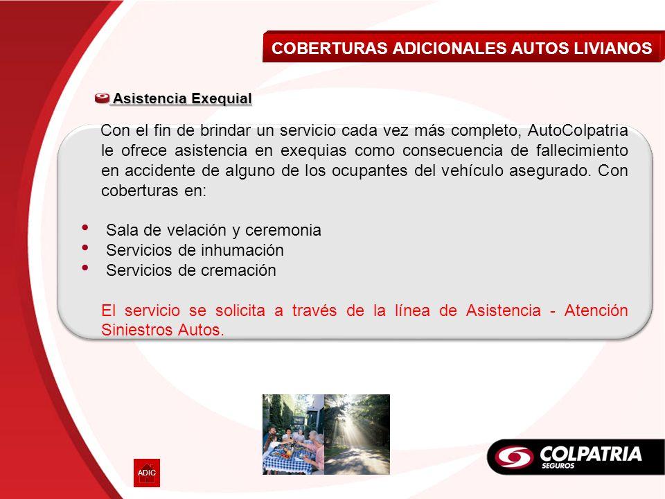 COBERTURAS ADICIONALES AUTOS LIVIANOS