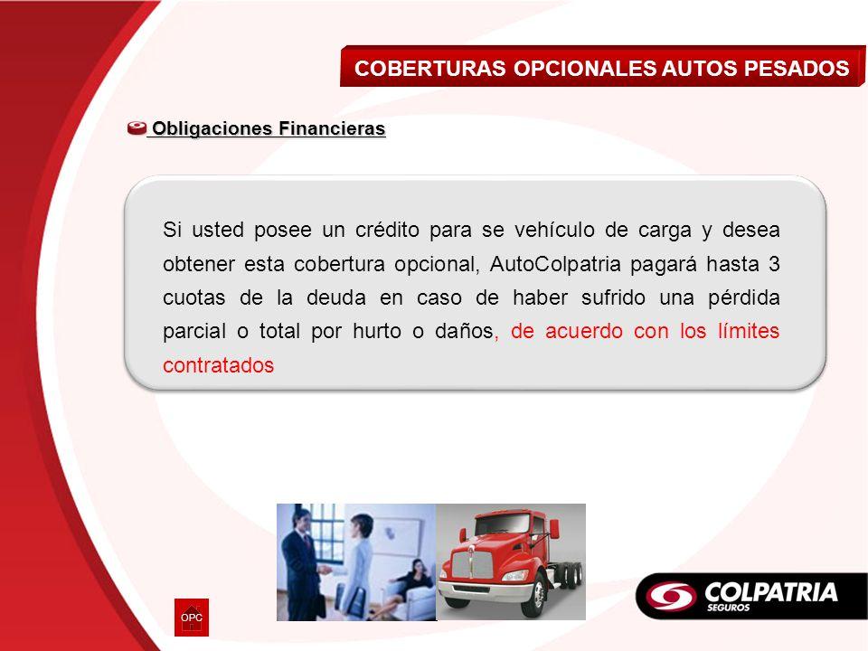 COBERTURAS OPCIONALES AUTOS PESADOS