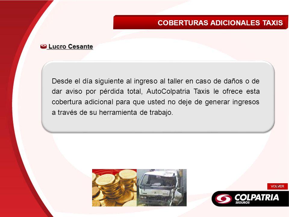 COBERTURAS ADICIONALES TAXIS
