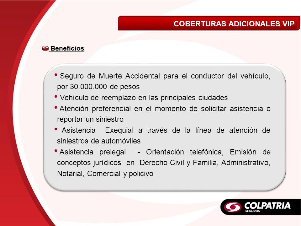 COBERTURAS ADICIONALES VIP