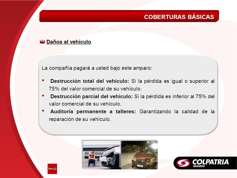COBERTURAS BÁSICAS Daños al vehículo