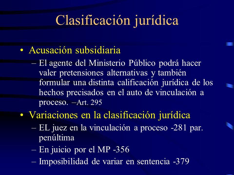 Clasificación jurídica