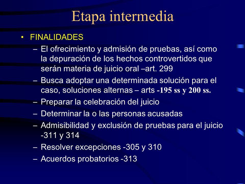 Etapa intermedia FINALIDADES