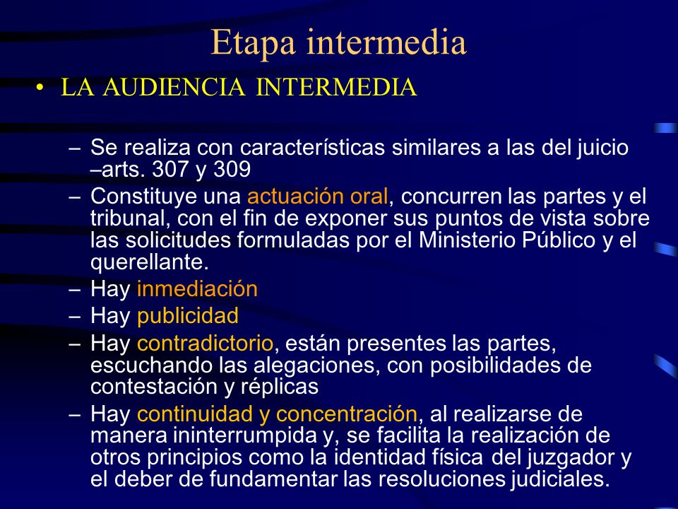 Etapa intermedia LA AUDIENCIA INTERMEDIA