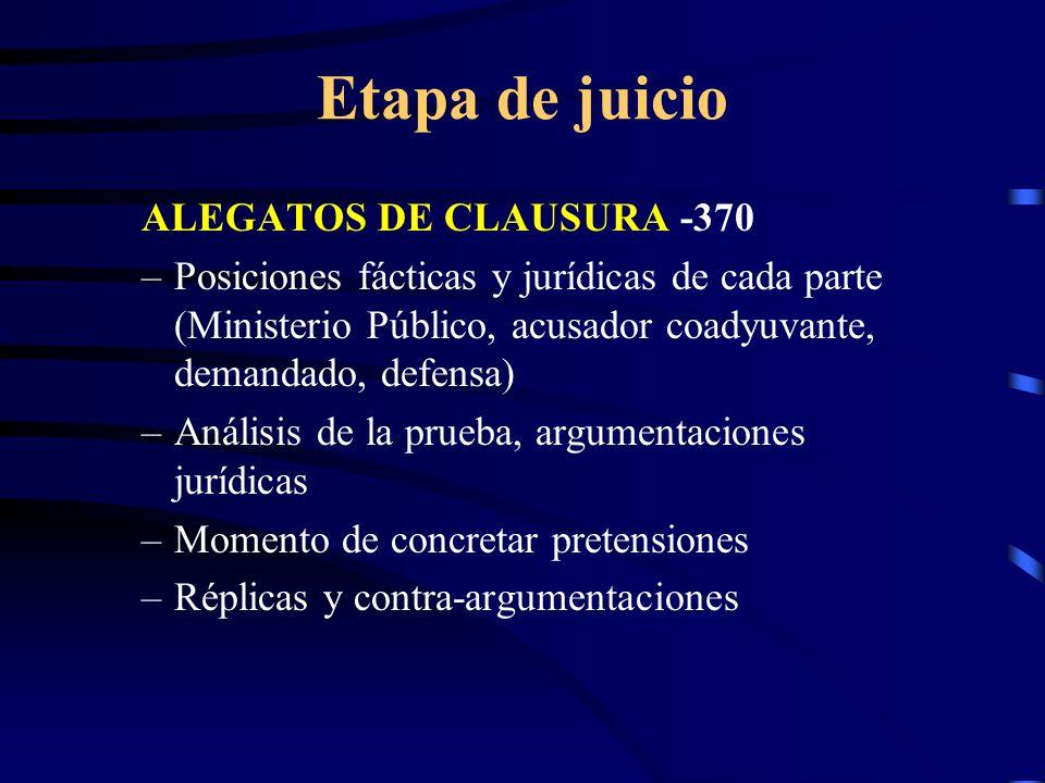 Etapa de juicio ALEGATOS DE CLAUSURA -370