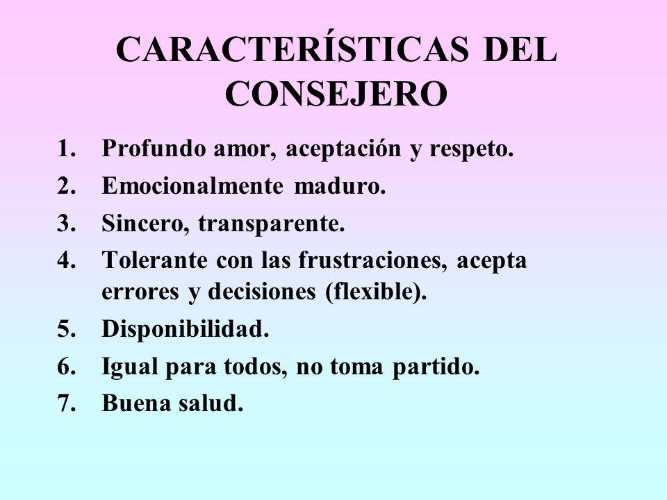 CARACTERÍSTICAS DEL CONSEJERO