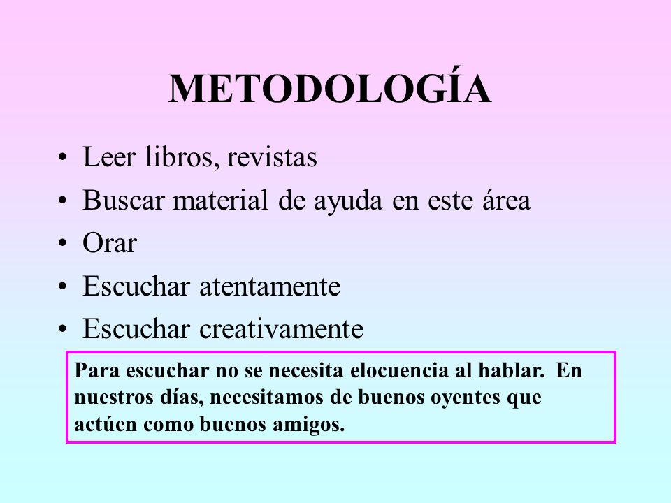 METODOLOGÍA Leer libros, revistas