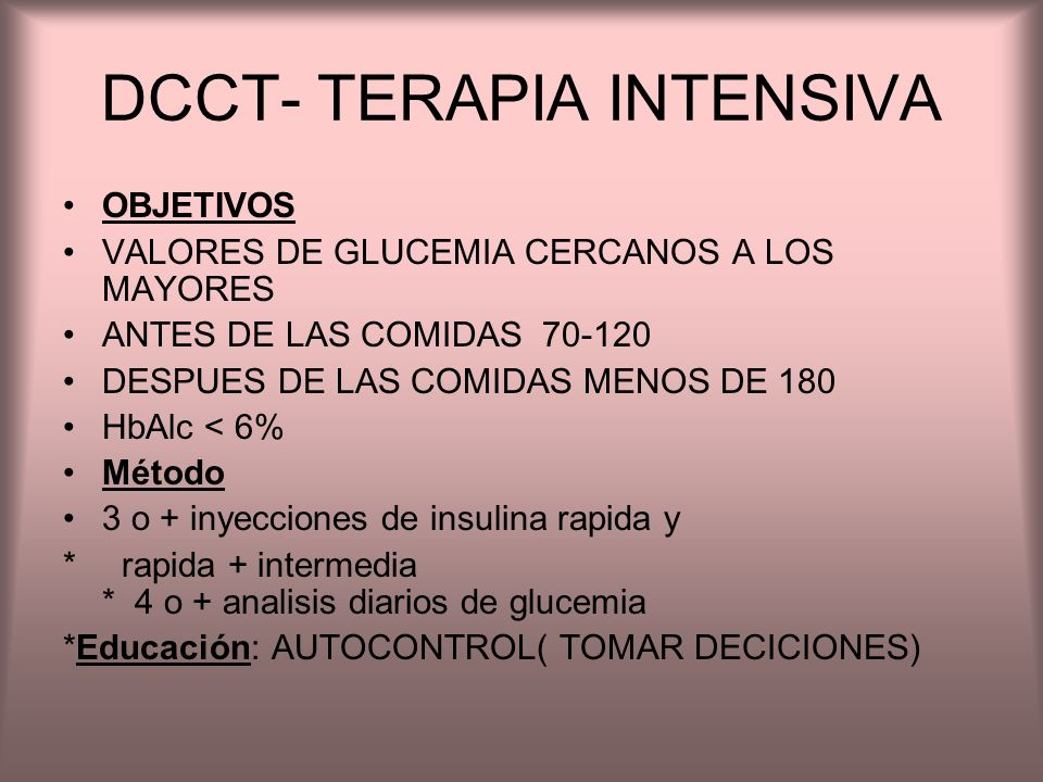 DCCT- TERAPIA INTENSIVA