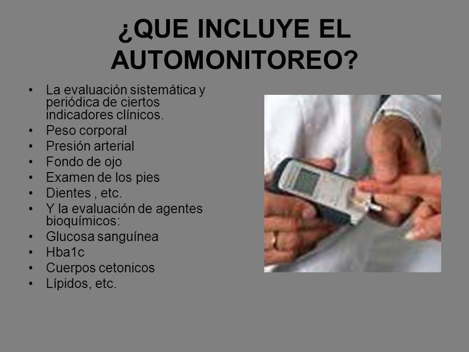 ¿QUE INCLUYE EL AUTOMONITOREO