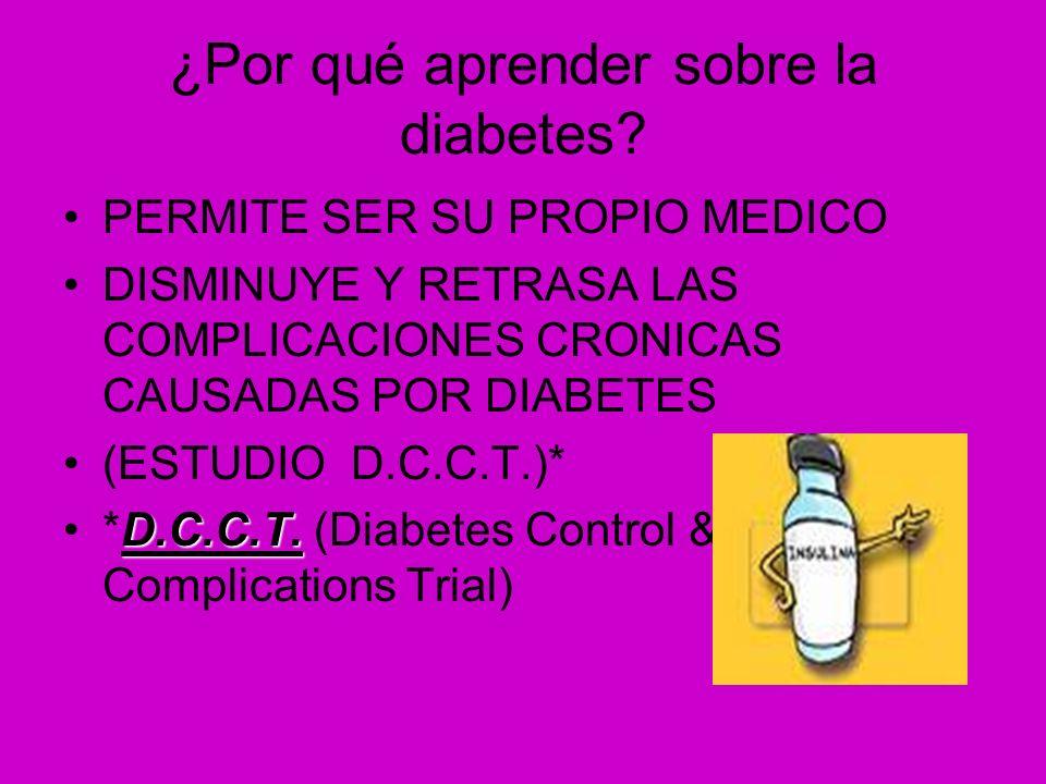 ¿Por qué aprender sobre la diabetes