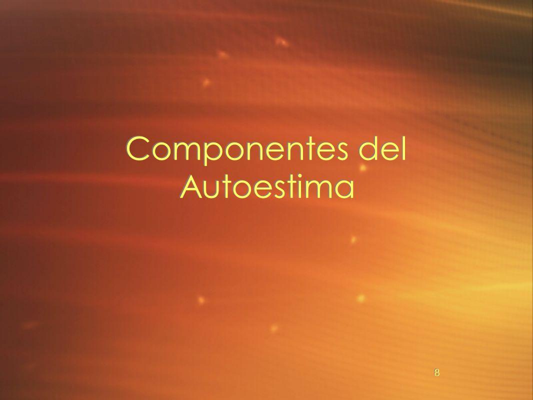Componentes del Autoestima