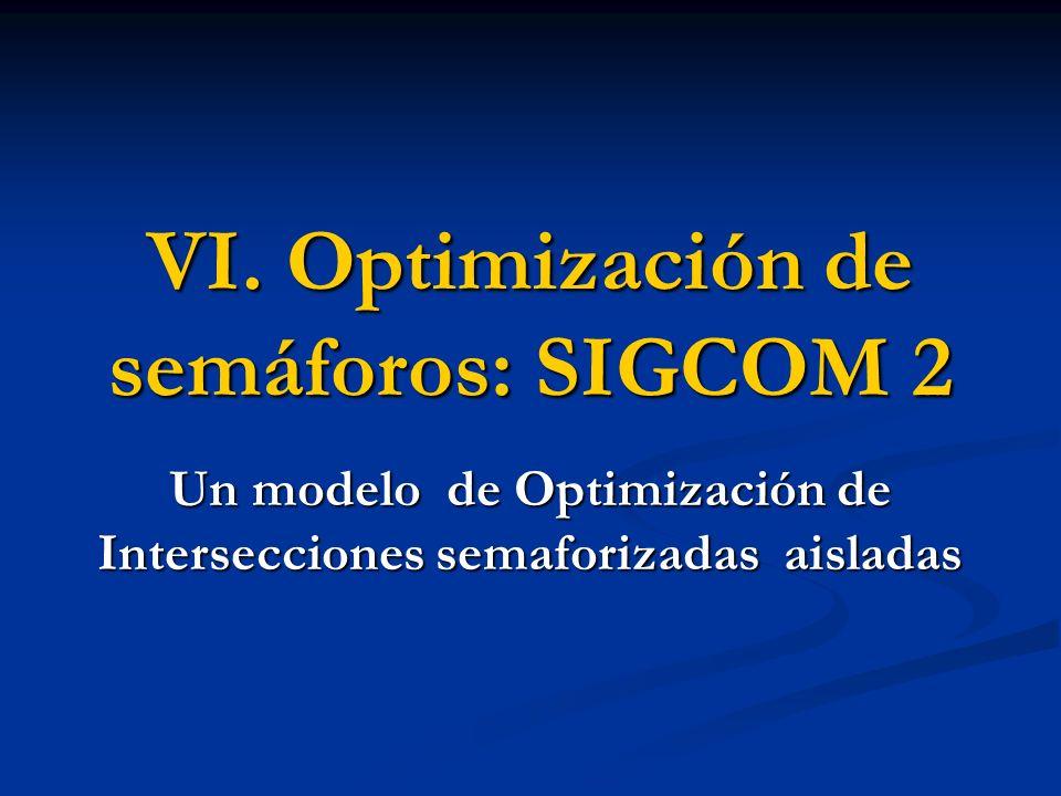 VI. Optimización de semáforos: SIGCOM 2