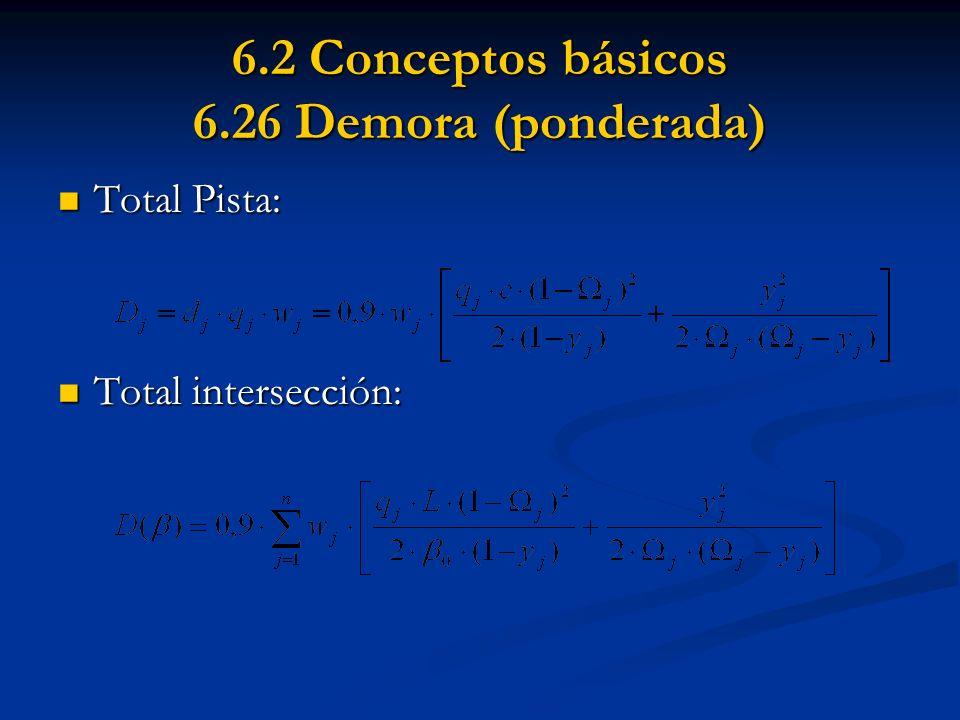 6.2 Conceptos básicos 6.26 Demora (ponderada)