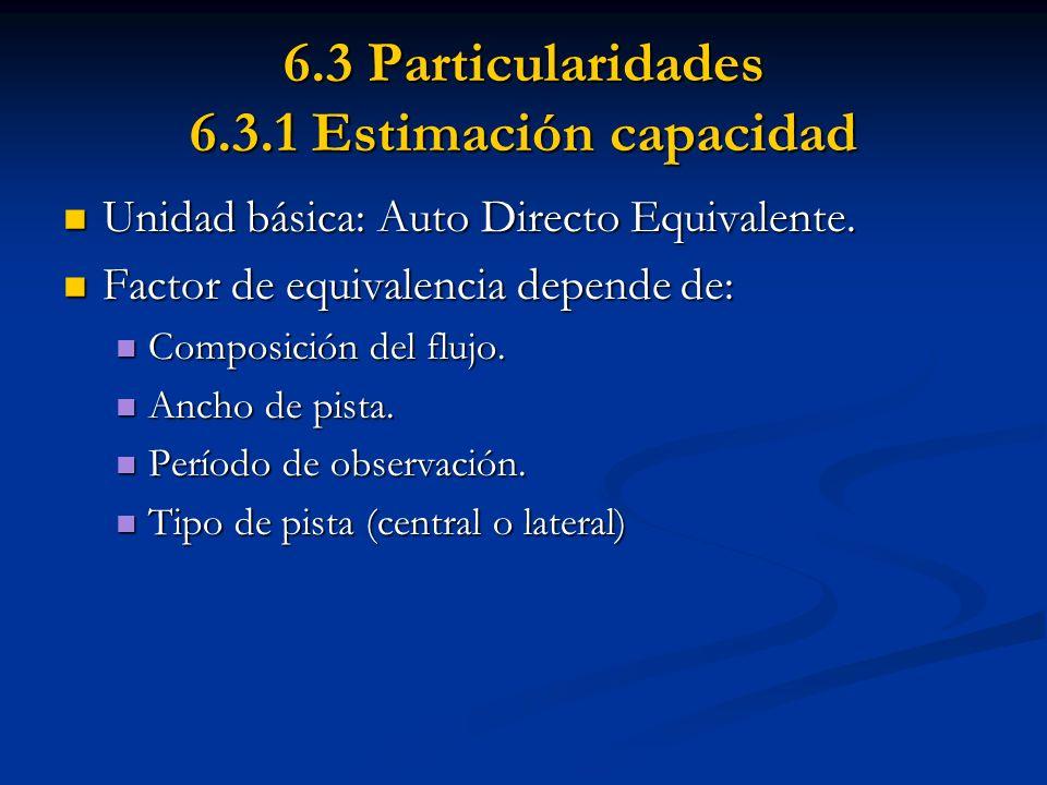 6.3 Particularidades 6.3.1 Estimación capacidad