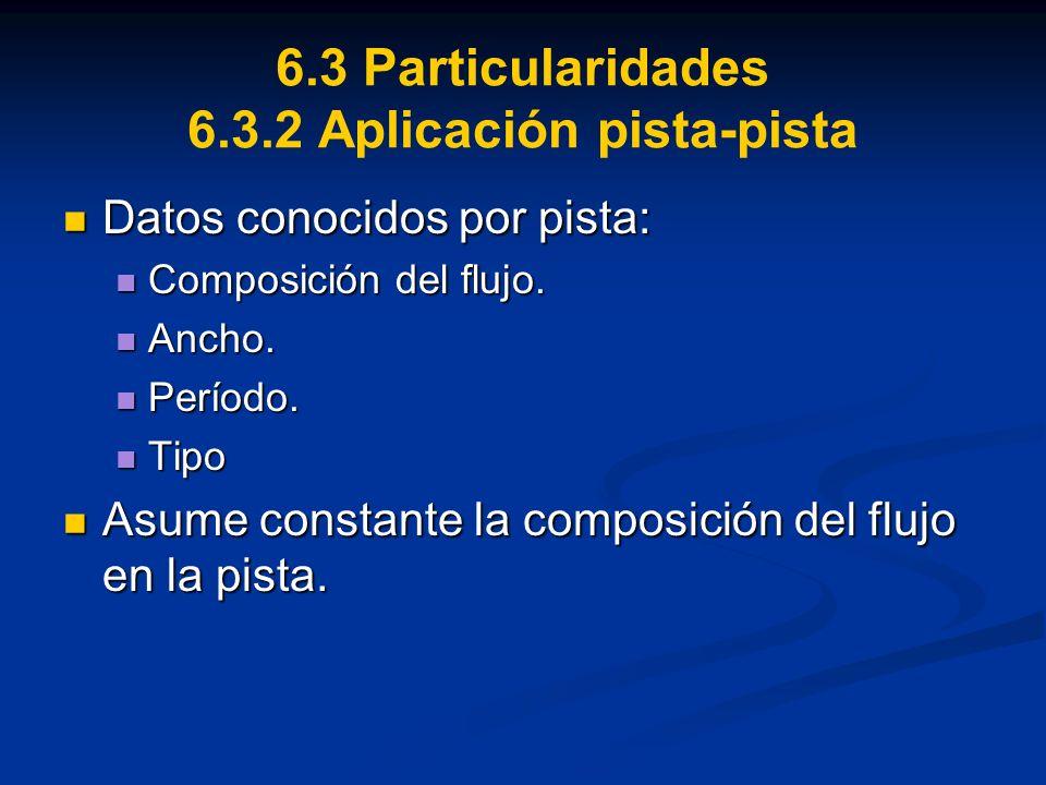 6.3 Particularidades 6.3.2 Aplicación pista-pista