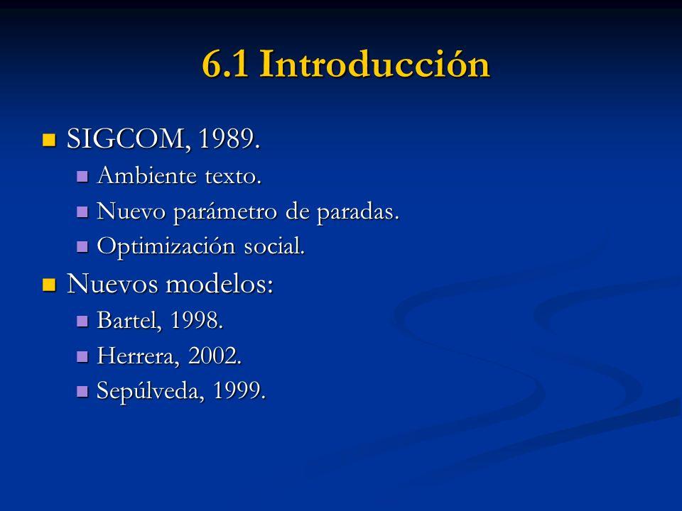6.1 Introducción SIGCOM, 1989. Nuevos modelos: Ambiente texto.