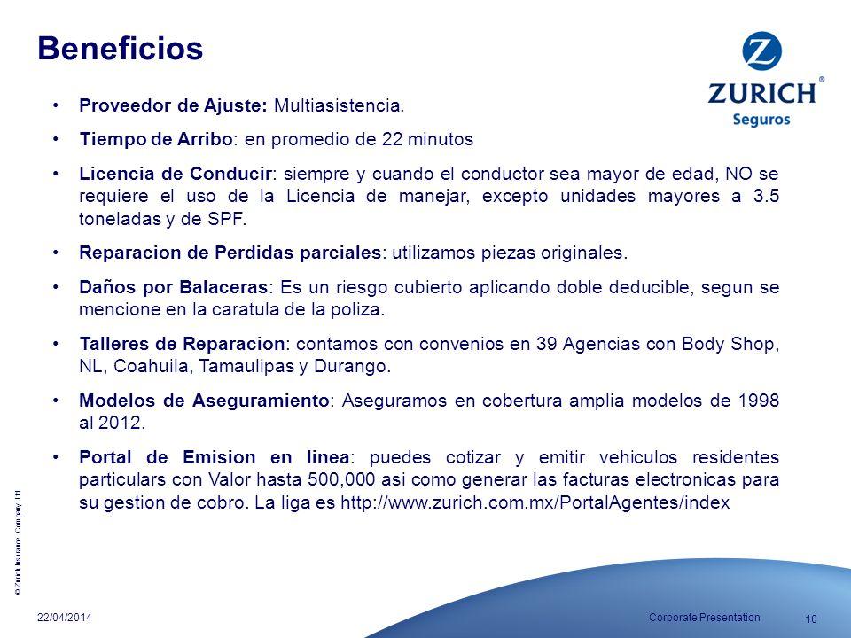 Beneficios Proveedor de Ajuste: Multiasistencia.