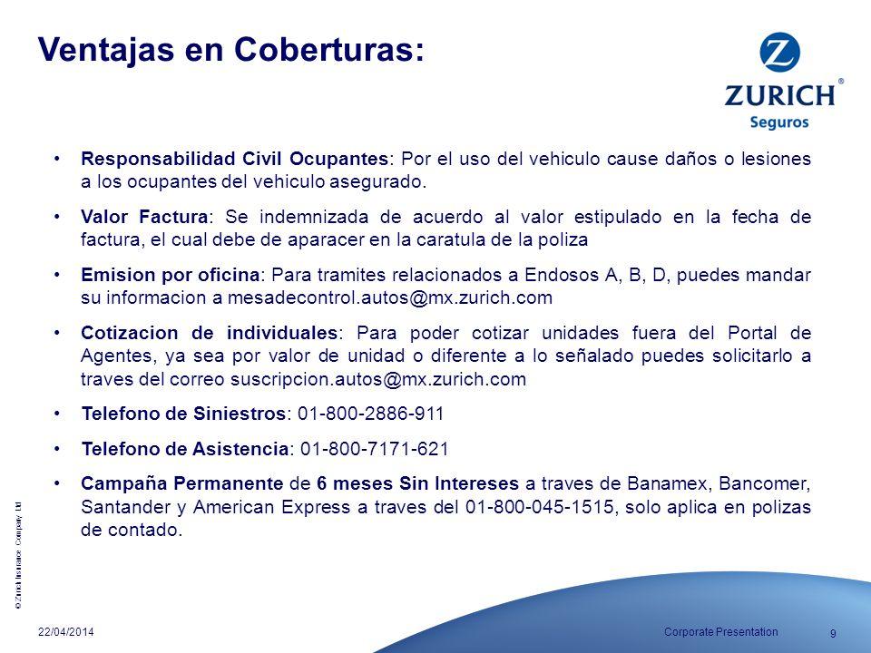Ventajas en Coberturas: