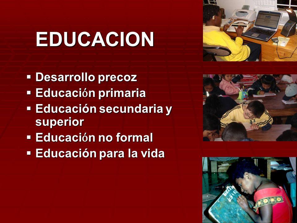 EDUCACION Desarrollo precoz Educaciόn primaria