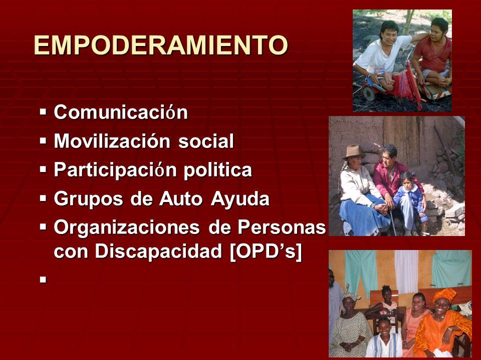 EMPODERAMIENTO Comunicaciόn Movilización social Participaciόn politica