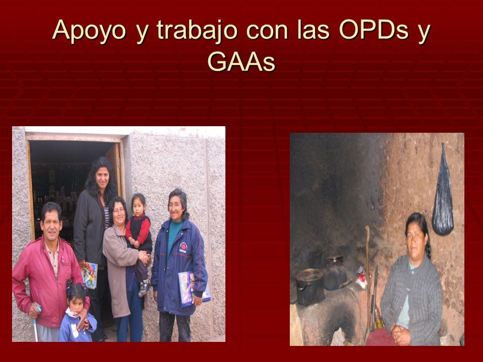 Apoyo y trabajo con las OPDs y GAAs