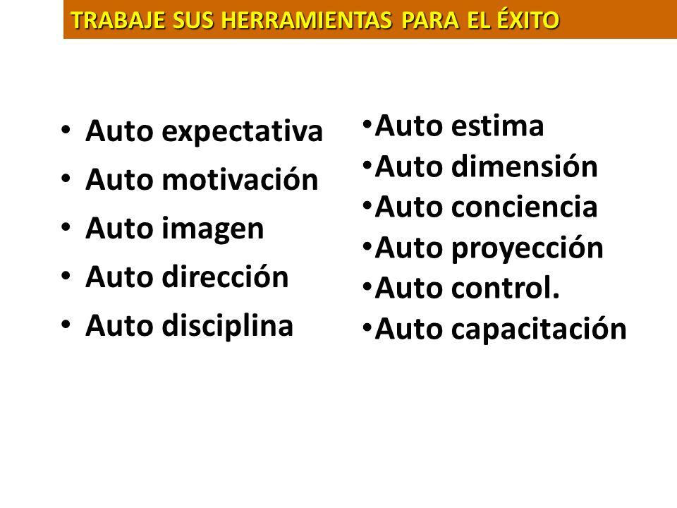 Auto estima Auto expectativa Auto dimensión Auto motivación