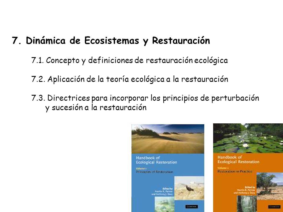 7. Dinámica de Ecosistemas y Restauración