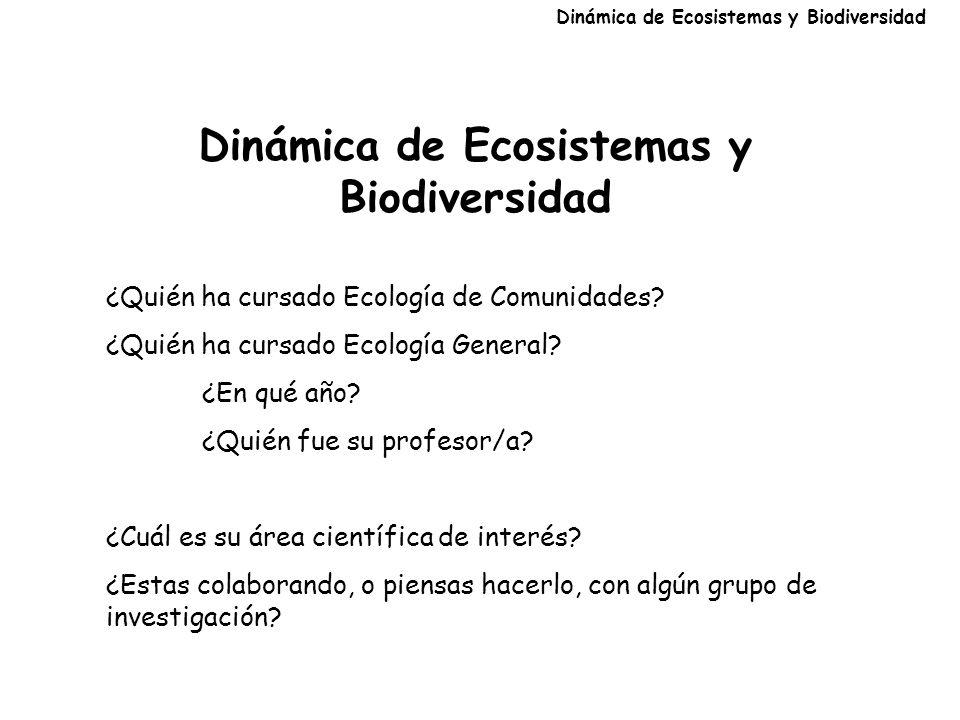 Dinámica de Ecosistemas y Biodiversidad