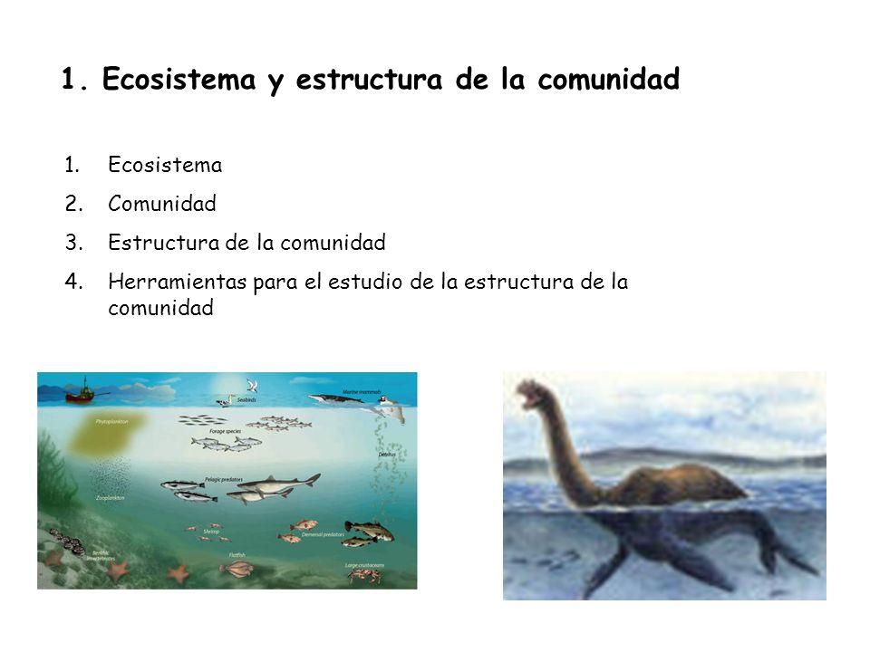 1. Ecosistema y estructura de la comunidad