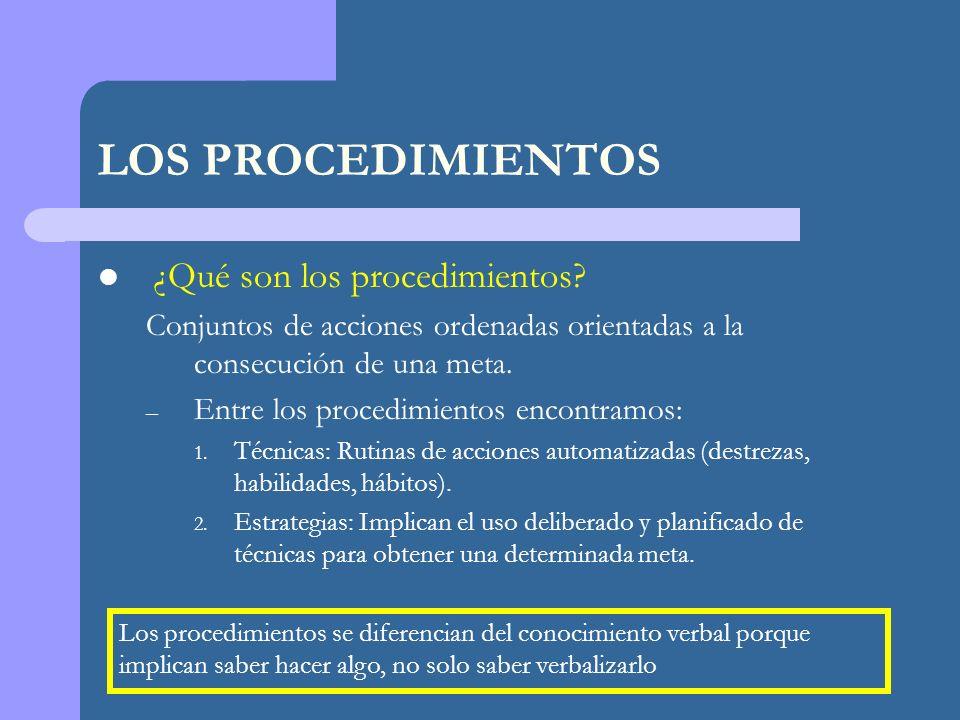 LOS PROCEDIMIENTOS ¿Qué son los procedimientos