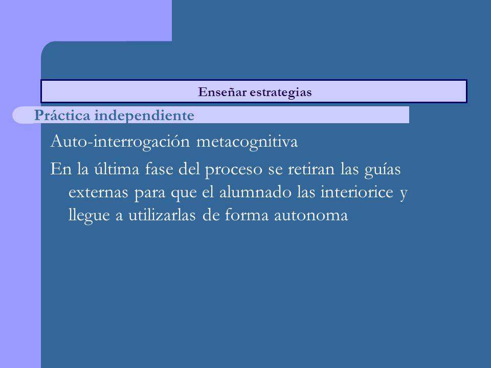 Auto-interrogación metacognitiva