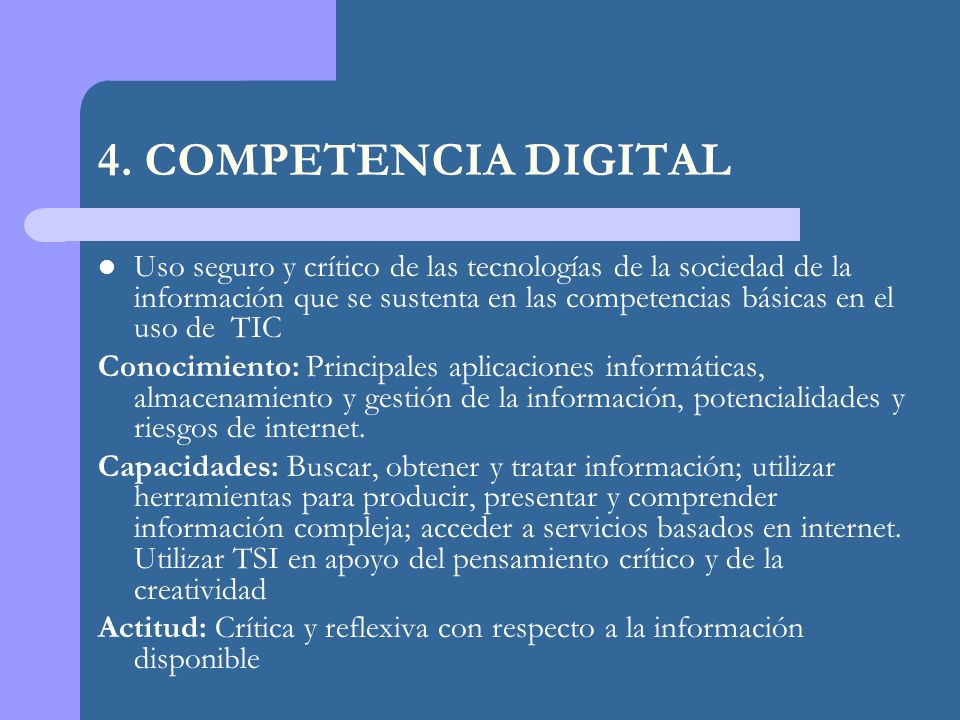 4. COMPETENCIA DIGITAL