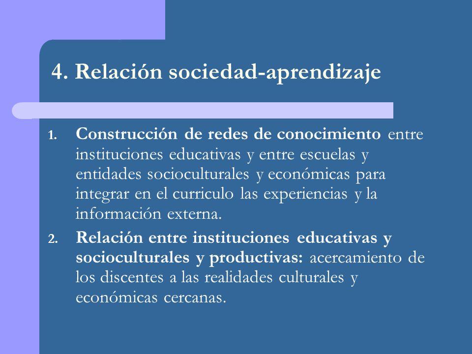 4. Relación sociedad-aprendizaje