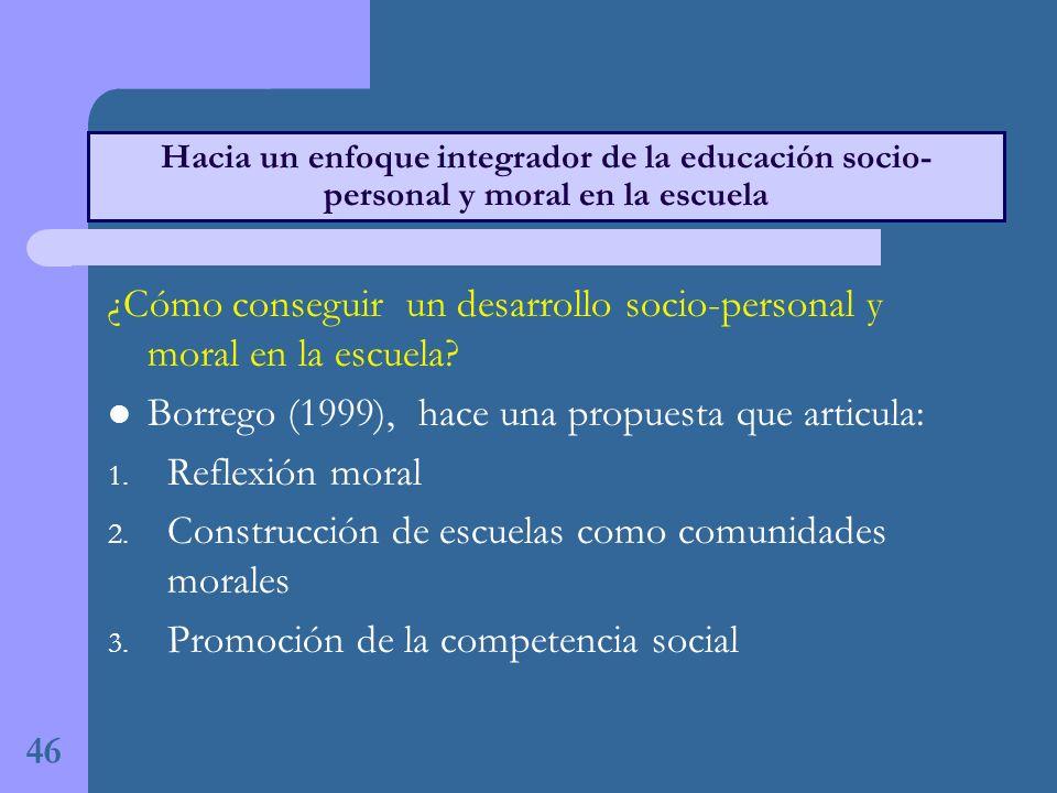 ¿Cómo conseguir un desarrollo socio-personal y moral en la escuela